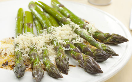 Fresh steamed asparagus